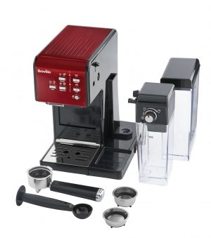 BREVILLE Prima Latte II coffee machine - VCF109X (Red)