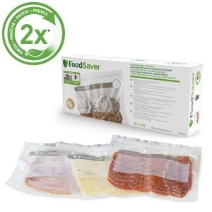 Food Saver Vacuum Storage Bags, 3.8 Litres, Clear - FVB016X